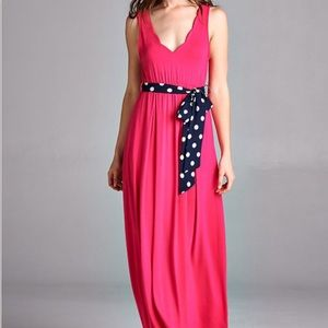 Hot Pink Plus Size Dress with Belt